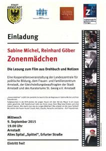 Plakat Veranstaltung am 9.9. Zonenmädchen (1)